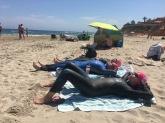 Ennen uintia otimme hieman Alkulämpöä...